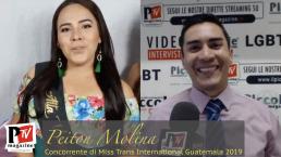 Entrevista a Peiton Molina, participante en el concurso Miss Trans International Guatemala 2019