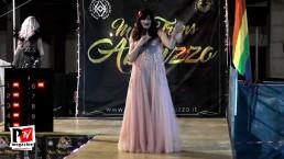 Chiara Bassi si esibisce al Miss Trans Abruzzo 2018