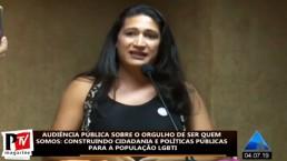 Aqui está a intervenção de Rebecka de Franca, ativista LGBT brasileira