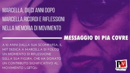 Messaggio di Pia Covre al 'Marcella, dieci anni dopo Marcella'