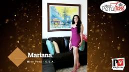 Mariana, concorrente di Miss Perù Trans 2020