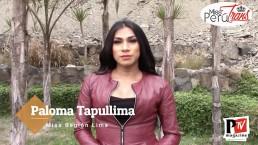 Paloma, concorrente di Miss Perù Trans 2020