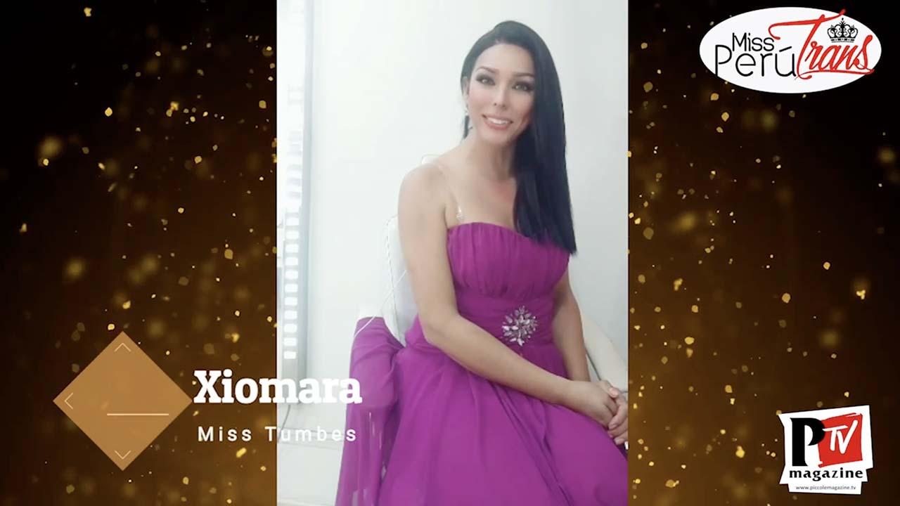 Xiomara, concorrente di Miss Perù Trans 2020