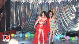 Spettacolo di Miss Nausica Angel al compleanno di Sebille Garcia e Anna Lopez