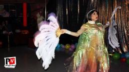 Spettacolo di Veronicka Linares al compleanno di Sebille Garcia e Anna Lopez