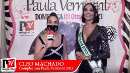 Intervista a Cleo Machado al compleanno di Paula Vermont