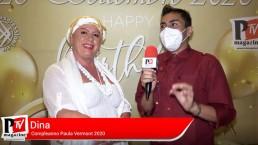 Intervista a Dina al compleanno di Paula Vermont 2020