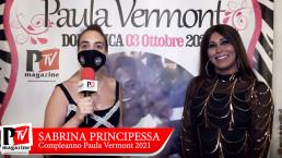 Intervista a Sabrina Principessa al compleanno di Paula Vermont