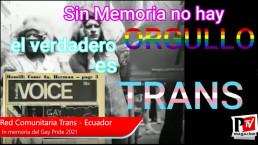 'Libertà, giustizia e democrazia' un pomeriggio con Red - Comunitaria Trans del Ecuador