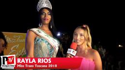 Intervista a Rayla Rios, Miss Trans Toscana 2018, ospite al Miss Trans Estate 2021