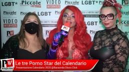 Intervista alle tre Pornostar durante la Presentazione del loro Calendario 2021
