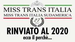 Miss Trans Italia e Sudamerica è stato rinviato al 2020, ecco perchè...
