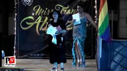 La poetessa Angela si esibisce al Miss Trans Abruzzo 2018