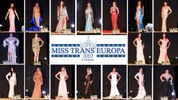 Sfilata in abito da sera delle concorrenti del Miss Trans Europa 2021