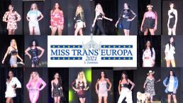 Sfilata in abiti casual delle concorrenti del Miss Trans Europa 2021