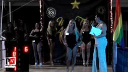 Sfilata in costume da bagno al Miss Trans Abruzzo 2018
